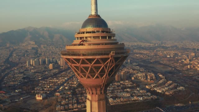 tehran milad tower - teheran video stock e b–roll