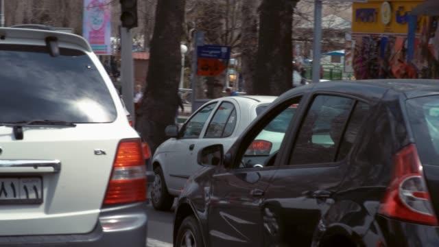 tehran traffic panning - iran stock videos & royalty-free footage