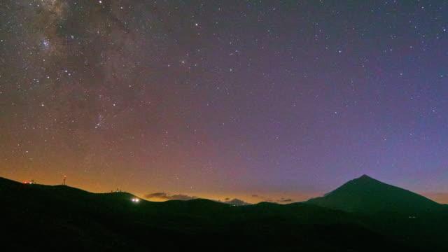 Teide mountain Night time lapse