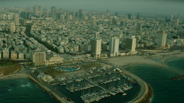 Tel Aviv Aerial Coastline Marine crossing