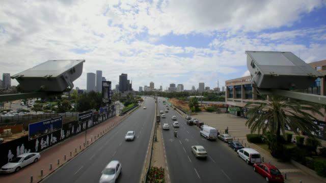 tel aviv ayalon highway timelapse traffic - tel aviv stock videos & royalty-free footage