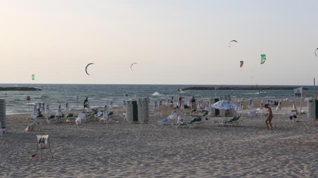 tel aviv beach - tel aviv stock videos & royalty-free footage