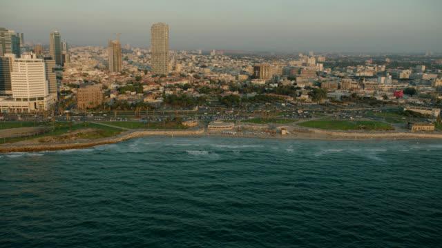 Tel Aviv CIty Coastline Aerial