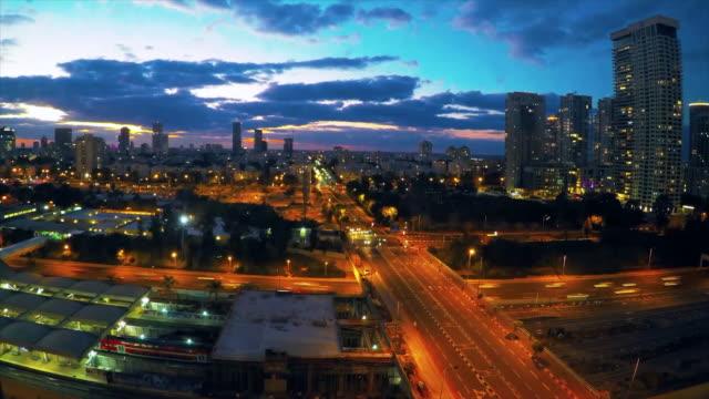 tel aviv city  time lapse - tel aviv stock videos & royalty-free footage