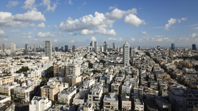 Tel Aviv, elevated city view towards the commercial and business centre,  Tel Aviv, Israel, Middle East