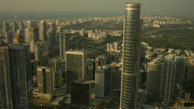 Tel Aviv Metropolis skyline aerial shot