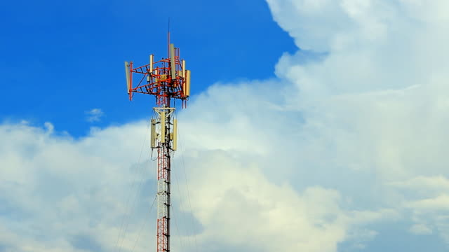 telecom tower time lapse - animal antenna stock videos & royalty-free footage