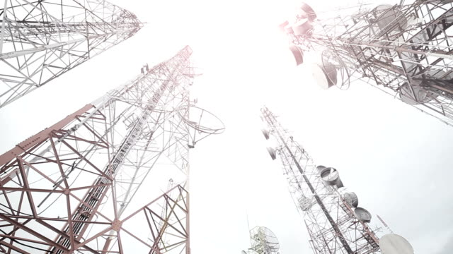 telecommunication mast tv antennas wireless technology - repeater tower stock videos and b-roll footage