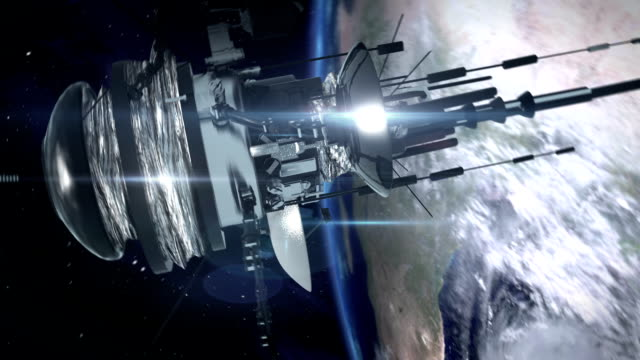 telecommunication satellite in space. - big brother orwellian concept stock videos & royalty-free footage