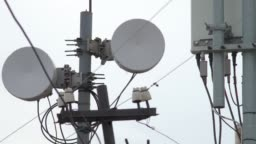 Telecommunication tower. Tower media Antenna Communications Tower.