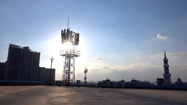 telecommunication tower - mast stock videos & royalty-free footage