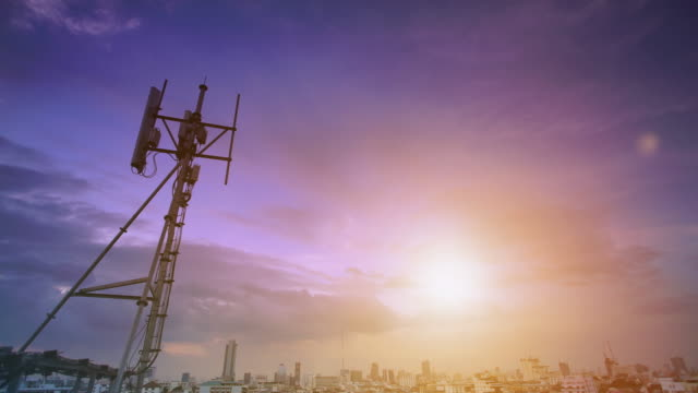 telecommunication tower - communications tower stock videos & royalty-free footage