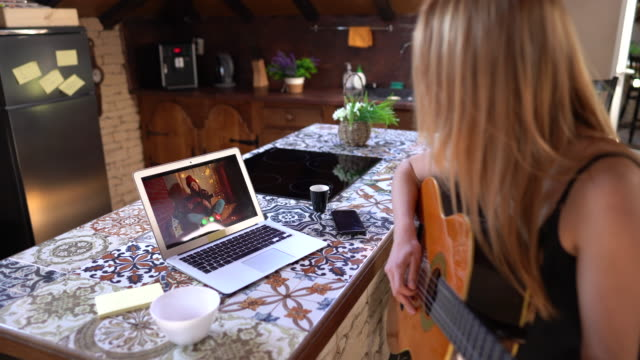 teleconferencing with music - musician stock videos & royalty-free footage