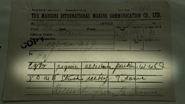 telegrams alerting world to sinking of titanic published oxfordshire oxford bodleian library marconi telegram sent from titanic with ' require... - bodleian library stock videos and b-roll footage