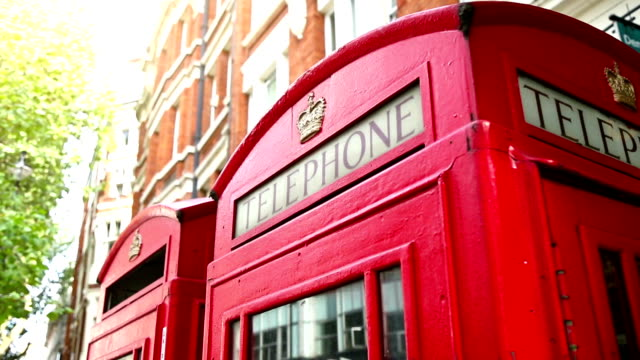 telephone booth symbols of london - tourism stock videos & royalty-free footage