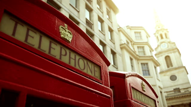telephone booth symbols of london - telephone booth stock videos & royalty-free footage