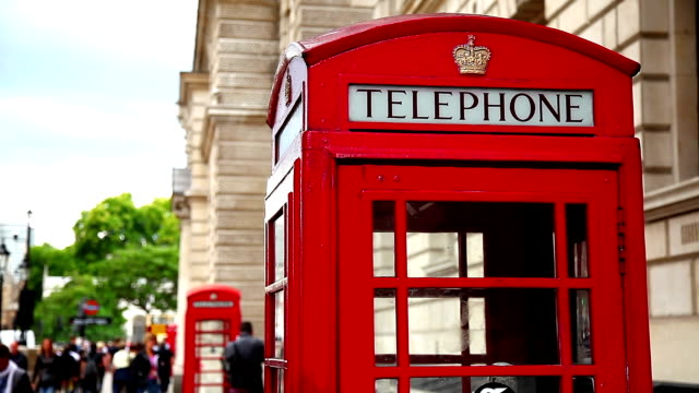 uk telephone booth - telephone booth stock videos & royalty-free footage