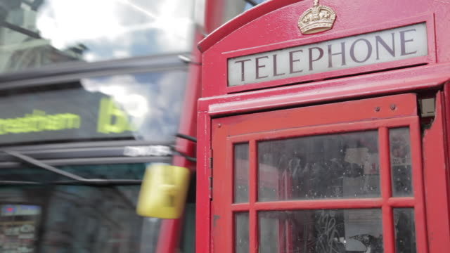 Telephone Box and Red Buses, Cockspur Street, Trafalgar Square, Westminster, London, England, UK