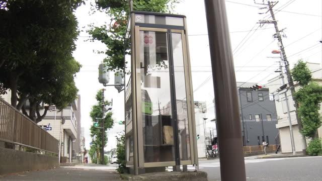 telephone box, kanagawa, japan - paper bag stock videos & royalty-free footage