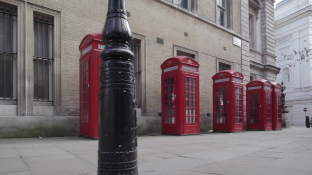 Telephone Boxes near Royal Opera House, London, England, UK, Europe