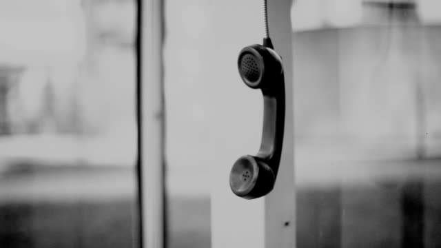 telephone handset. - hanging up stock videos and b-roll footage