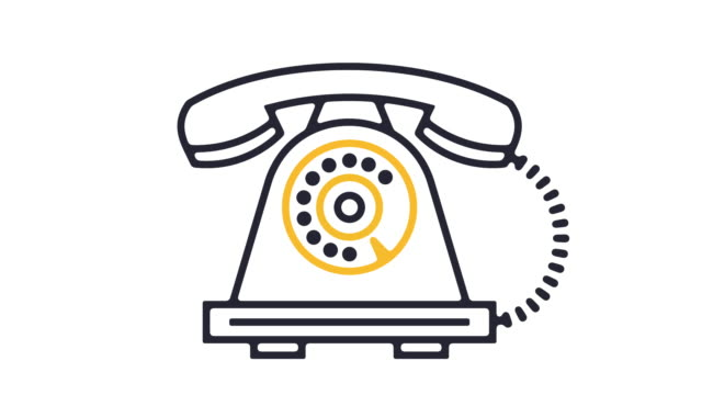 telephone icon animation - global communications icon stock videos & royalty-free footage