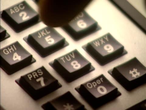 telephone keys - människofinger bildbanksvideor och videomaterial från bakom kulisserna