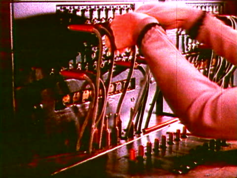 a telephone operator - telecommunications worker stock videos & royalty-free footage