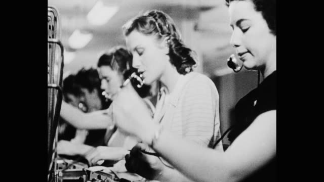 telephone operators working in office - 1950 stock videos & royalty-free footage