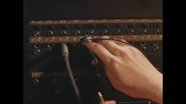 telephone switchboard marked in braille - braille stock videos & royalty-free footage