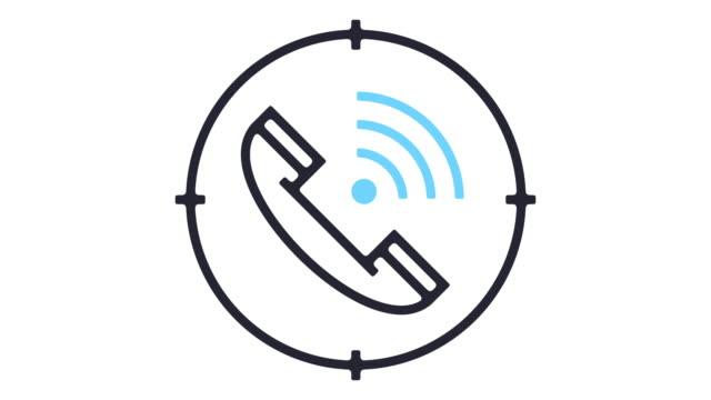電話タップ アイコン アニメーション - 盗み聞き点の映像素材/bロール