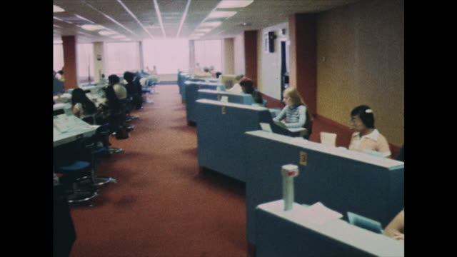 telephonists in telephone exchange centre in 1978 - telecommunications equipment stock videos & royalty-free footage