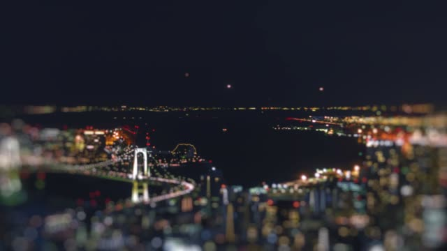 Telephoto shot of flights to and from Haneda Airport at night