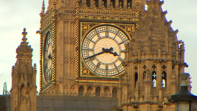 Telephoto shot of the clockface of Big Ben at the Palace of Westminster London
