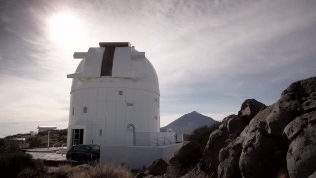 telescope of the teide astronomical observatory - observatory stock videos & royalty-free footage