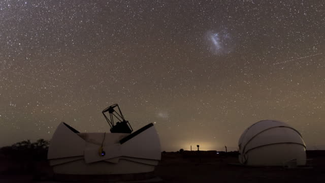 telescopes in atacama desert - observatory stock videos & royalty-free footage