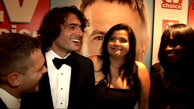 2010 TV Choice Awards red carpet interviews John Partridge Marc Elliott Nina Wadia and Diane Parish interviewed SOT Who should win they joke whoever...