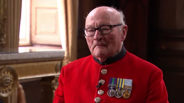 89yearold chelsea pensioner colin thackery wins 'britain's got talent' england london int colin thackery interview sot - britain's got talent stock videos & royalty-free footage