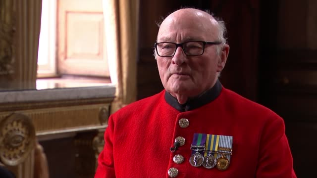 89yearold chelsea pensioner colin thackery wins 'britain's got talent' england london int colin thackery interview sot - britain's got talent stock-videos und b-roll-filmmaterial