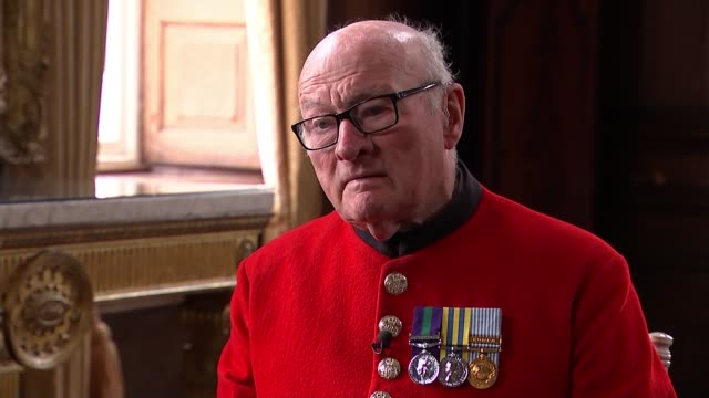 89yearold chelsea pensioner colin thackery wins 'britain's got talent' england london int colin thackery interview sot chelsea pensioners marching on... - britain's got talent stock-videos und b-roll-filmmaterial
