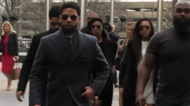US television actor Jussie Smollett pleads not guilty to staging a hate motivated attack and filing a false report with Chicago police
