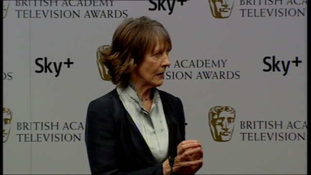 Winners' room interviews Eileen Atkins interview SOT Lovely to get award but it is shared with the ladies of Cranford / On doing a Christmas special...