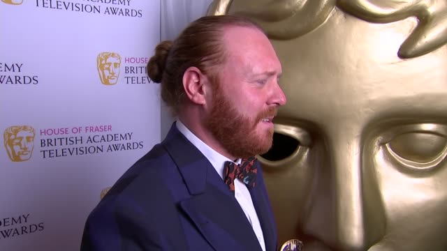Winners room Leigh Francis interview SOT