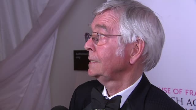 television awards 2016 winners tom courtenay interview sot / chanel cresswell interview sot - tom courtenay stock videos & royalty-free footage