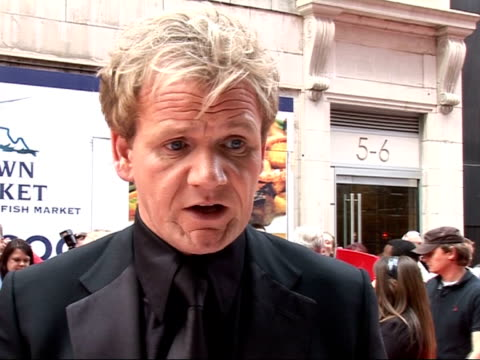 Red carpet arrivals and interviews Gordon Ramsey with wife Tana Ramsey interview on red carpet SOT There is lots of competition healthy for British...
