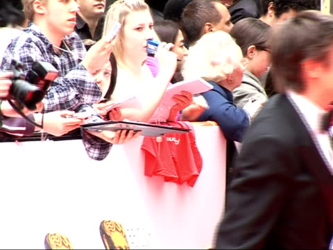 red carpet arrivals and interviews richard hammond along with wife / back view of richard armitage signing autographs - richard hammond stock videos & royalty-free footage