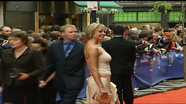 television awards: red carpet interviews; england: london: the london palladium: michael parkinson & mary parkinson pose for press, both along & sign... - angus deayton stock videos & royalty-free footage