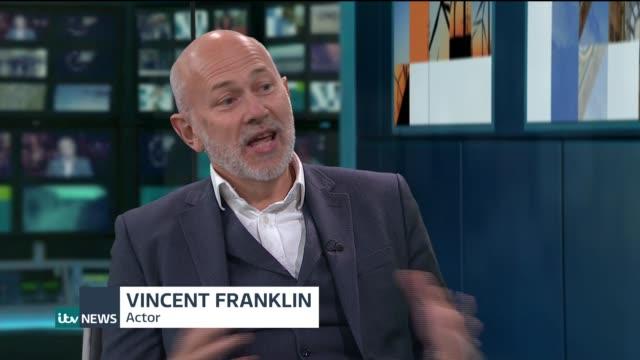 bbc 'bodyguard' drama final episode draws 11 million viewers england london gir int vincent franklin studio interview sot - bbc video stock e b–roll