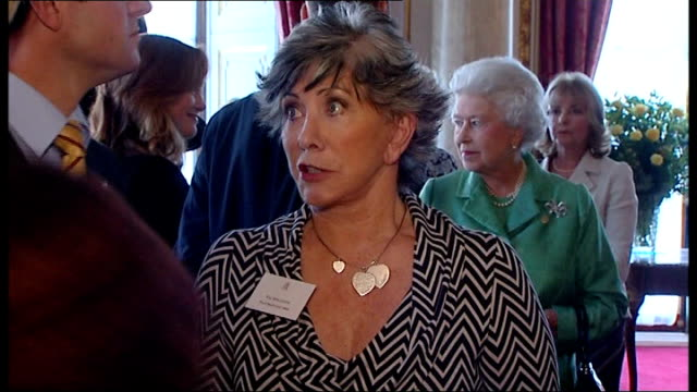 blue peter 50th anniversary tea party at buckingham palace queen meeting anne dixon queen meeting valerie singleton matt baker katy hill peter purves... - peter purves stock videos and b-roll footage