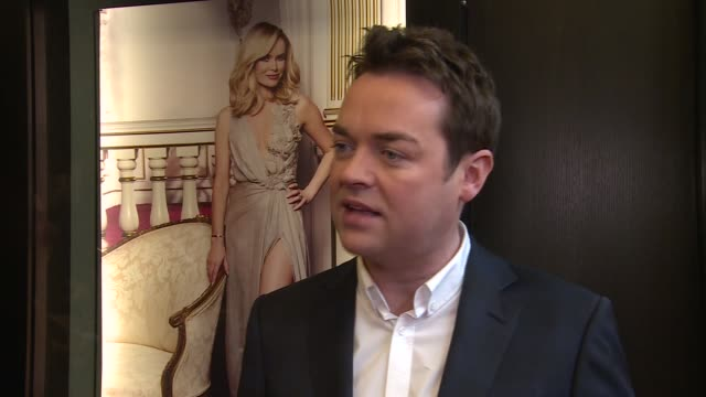 'britain's got talent' 10th anniversary; england: london: int stephen mulhern interview sot alesha dixon on red carpet and interview sot - britain's got talent stock-videos und b-roll-filmmaterial